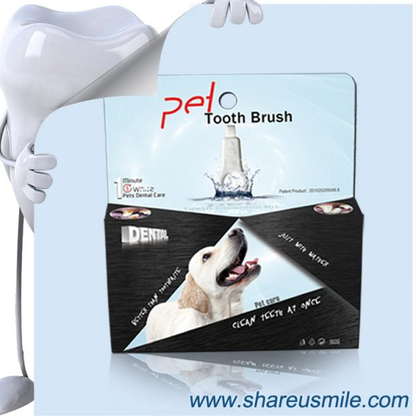 shareusmile SH-PET04-Pet tooth brush–Brush Your Dog's Teeth At Home