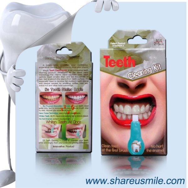 shareusmile SH007-Teeth Cleaning Kit Magic Teeth Whiten Kit Home Oral Dental Hygeine Cleaning Tool Kits