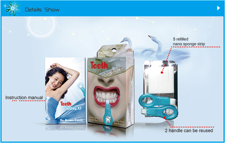 Innovative Teeth Cleaning Kit includes 2 stick with 5refills in a pack