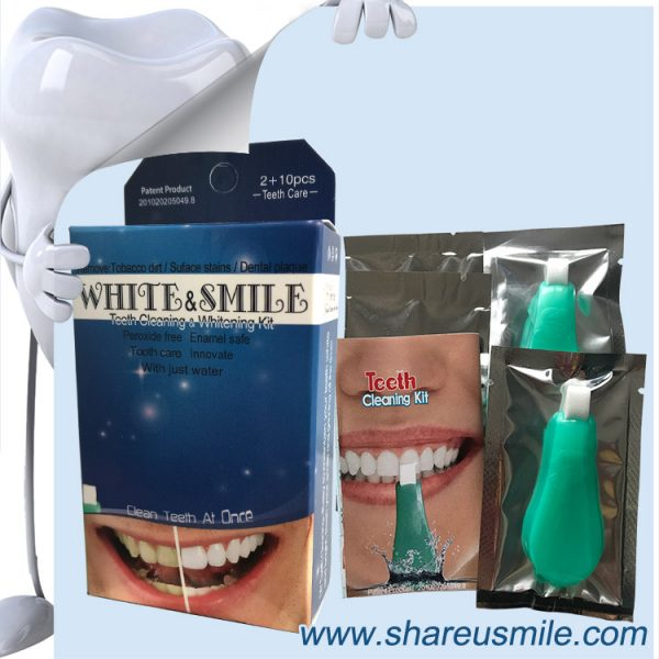 Shareusmile Upgrade teeth cleaning kit N210 Configuration is 2 Sticks and 10Sponge Refills
