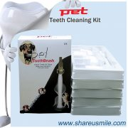At-home pet teeth cleaning kit Wholesale Shareusmile New pet toothbrush dog teeth cleaning kit