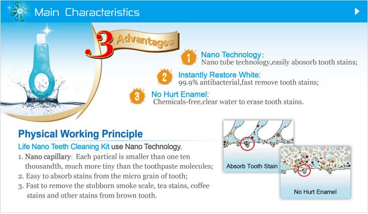 Principle of magic teeth cleaning kit!no hurt enamel