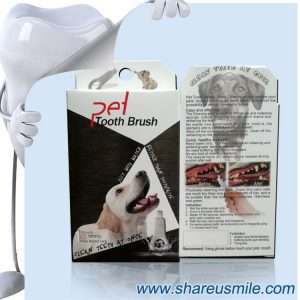 shareusmile SH-PET01-Pet tooth brush Dog Teeth Cleaning -De-scaling tartar off my dog's teeth
