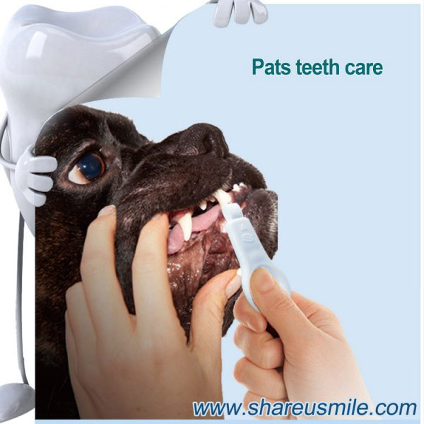 shareusmile SH-PET01-Pet tooth brush- a professional cleaning Dog's Teet_