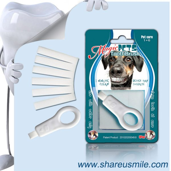 shareusmile SH-PET106-Pet tooth brush-The Best Dogs Dental Care Kits to Buy