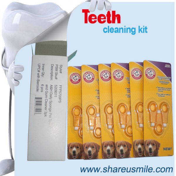 shareusmile SH-PET106-Pet tooth brush– cleang teeth at home for your dog