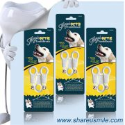 remove the tartar and plaque with shareusmile SH-PET03-Pet tooth brush