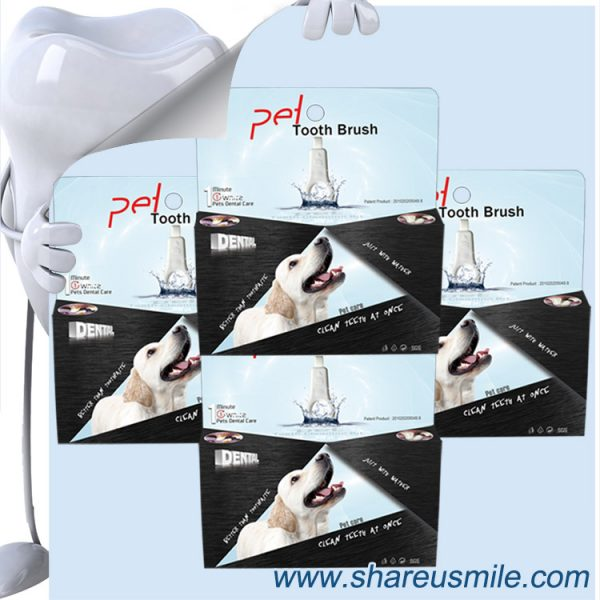 shareusmile Dog Teeth Cleaners pet tooth brush