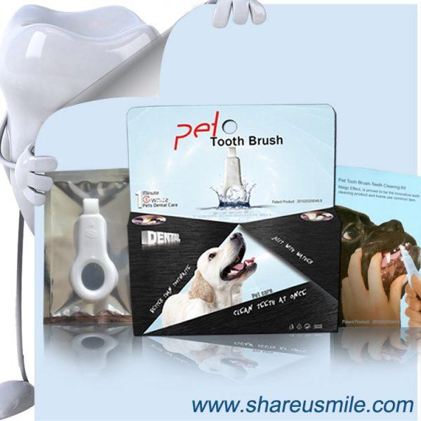 shareusmile SH-PET04-Pet tooth brush-clean surfaces of your pet's teeth