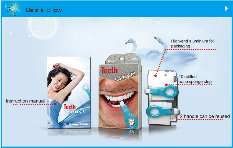 shareusmile Teeth Cleaning Kit at-home-teeth--erasers-and-tooth-polishing-tools made of PP handle and white melamine sponge strip