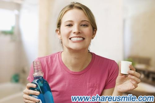 shareusmile- How to clean your teeth thoroughly you can use mouthwash