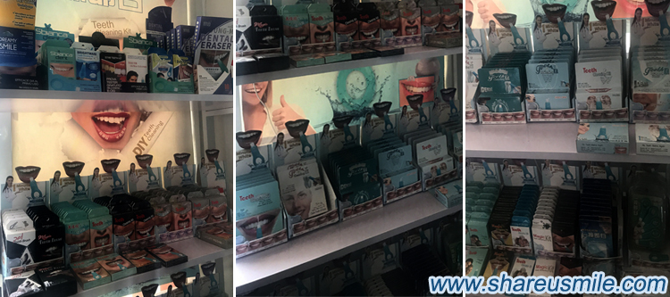 shareusmile teeth cleaning kit sample room -display