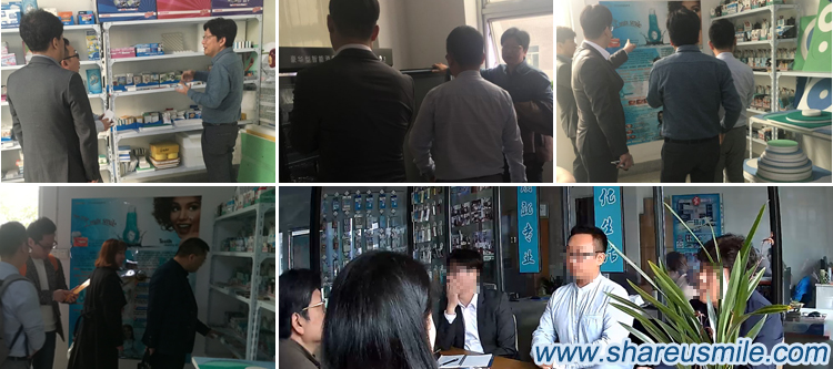 Warmly welcome Korean customers to visit Company Xiamen Share Nano company shareusmile teeth cleaning kit factory