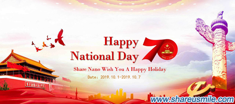 2019 Share Nano National Day Holiday Notice from shareusmile