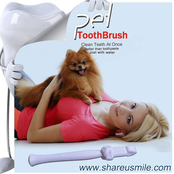 Best dog toothbrush Wholesale shareusmile pet teeth cleaning kit new dog toothbrush‎