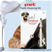 Shareusmile New pet toothbrush dog teeth cleaning kit