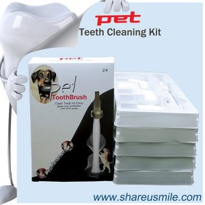 Wholesale Shareusmile New pet toothbrush dog teeth cleaning kit