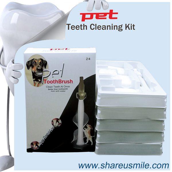 Wholesale Shareusmile New pet toothbrush dog teeth cleaning kit
